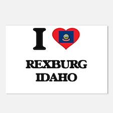 I love Rexburg Idaho Postcards (Package of 8)