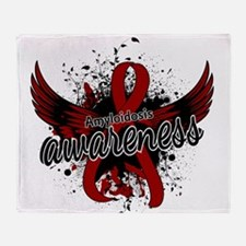 Amyloidosis Awareness 16 Throw Blanket