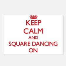 Keep Calm and Square Danc Postcards (Package of 8)