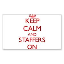 Keep Calm and Staffers ON Decal