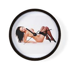 Nude Pinup Girl Wall Clock