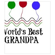 World's Best Grandpa Canvas Art