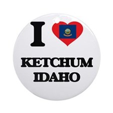 I love Ketchum Idaho Ornament (Round)