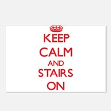 Keep Calm and Stairs ON Postcards (Package of 8)