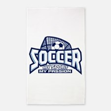 Soccer My Passion Area Rug