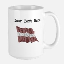 Latvia Flag Mugs