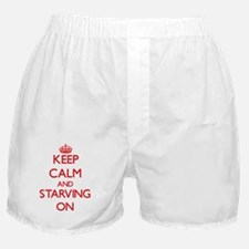 Keep Calm and Starving ON Boxer Shorts