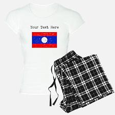 Laos Flag Pajamas