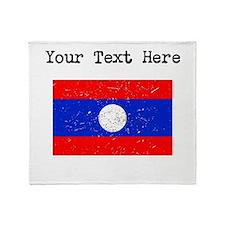 Laos Flag Throw Blanket