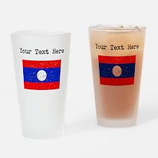 Laos Flag Drinking Glass