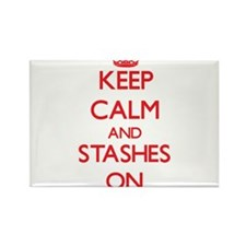 Keep Calm and Stashes ON Magnets