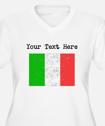 Italy Flag Plus Size T-Shirt