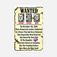 """Wanted: Obama, Pelosi, Reid"" Decal"
