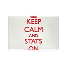 Keep Calm and Stats ON Magnets
