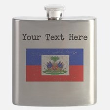Haiti Flag Flask