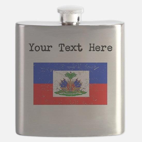 Haiti Flag Flask