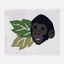 Mountain Gorillas Throw Blanket