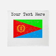 Eritrea Flag Throw Blanket