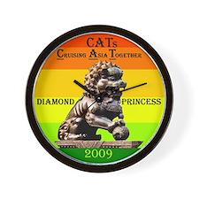 Diamond CATs Logo - Wall Clock