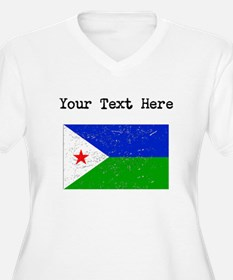 Djibouti Flag Plus Size T-Shirt