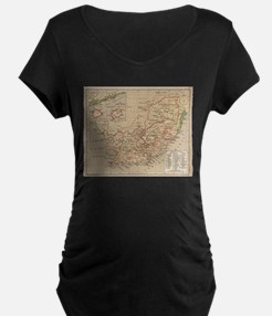 Vintage Map of South Africa (188 Maternity T-Shirt