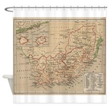 Vintage Map of South Africa (1880) Shower Curtain