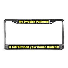 Honor Student Vallhund License Plate Frame