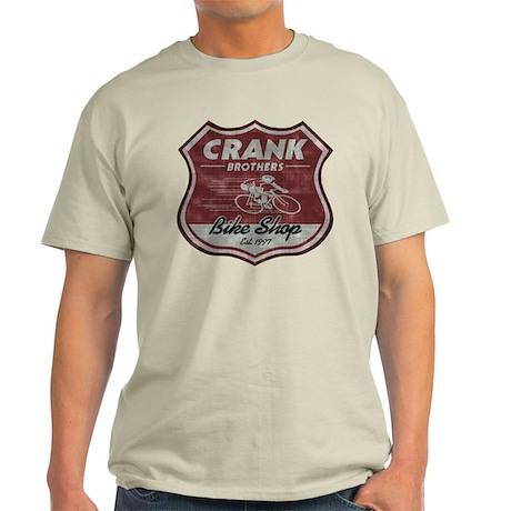 Crank bros bike shop t shirt by runbikeswim for Bike and cycle shoppe shirt