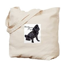 Must Love Pugs Tote Bag