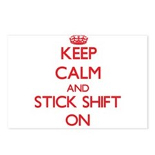 Keep Calm and Stick Shift Postcards (Package of 8)