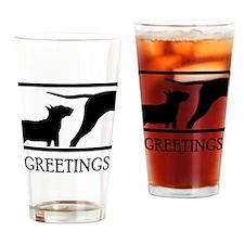 Miniature Bull Terrier Drinking Glass
