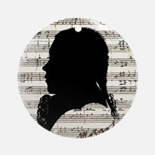 Wolfgang Amadeus Mozart Round Ornament