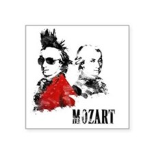 "Wolfgang Amadeus Mozart Square Sticker 3"" x 3"""
