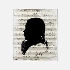 Wolfgang Amadeus Mozart Throw Blanket