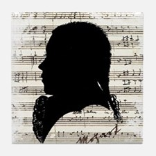 Wolfgang Amadeus Mozart Tile Coaster