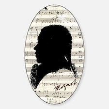 Wolfgang Amadeus Mozart Sticker (Oval)