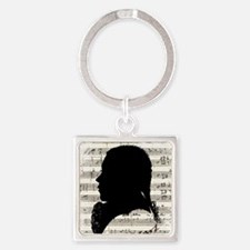 Wolfgang Amadeus Mozart Square Keychain