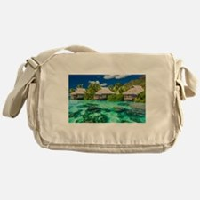 Tropical Water And Bungalow Messenger Bag