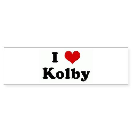 I Love Kolby Bumper Sticker