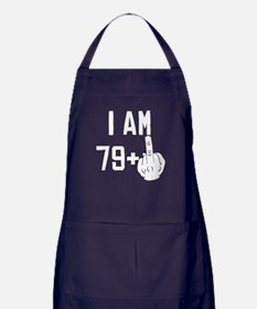 Middle Finger 80th Birthday Apron (dark)