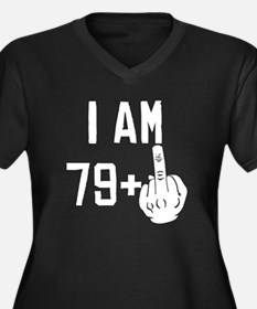 Middle Finger 80th Birthday Plus Size T-Shirt