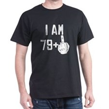 Middle Finger 80th Birthday T-Shirt