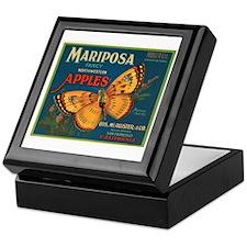 Mariposa Apples Crate Label Keepsake Box