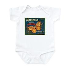 Mariposa Apples Crate Label Infant Bodysuit