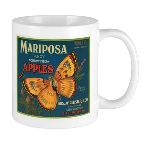 Mariposa Apples Crate Label Mug