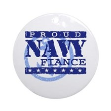 Proud Navy Fiance Ornament (Round)