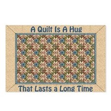 """A Quilt Is A Hug"" Postcards (Package of 8)"