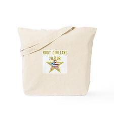 RUDY GIULIANI 08 (gold star) Tote Bag
