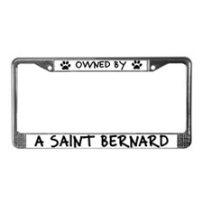 Owned by a Saint Bernard License Plate Frame