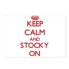 Keep Calm and Stocky ON Postcards (Package of 8)